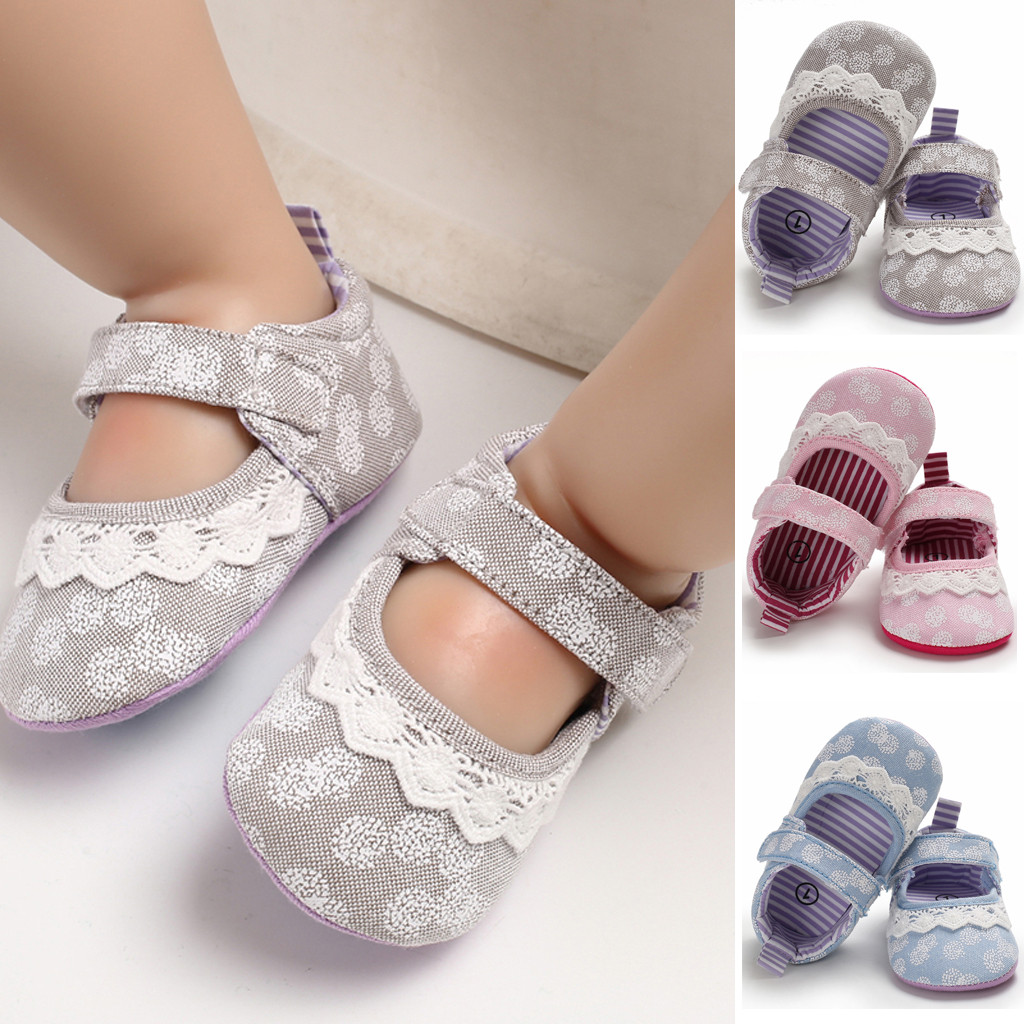 2020 New Autumn Toddler Reborn  Infant Baby Girl Soft Bottom Sole Embroidery Lace Shoes Single Shoes Sapato Infantil Kids Shoes