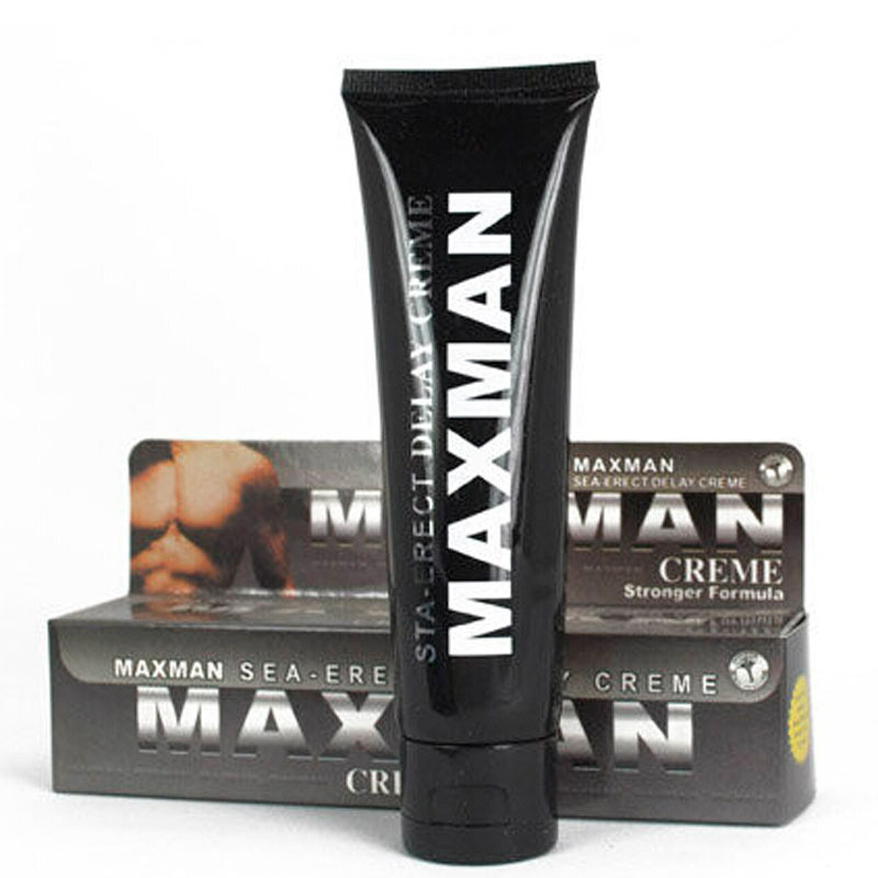 Delayed spray MAXMAN increase cream black male female love must extend sex time adult products