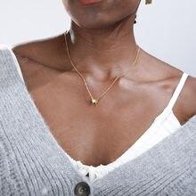 Бабочка ожерелья для женщин Минималистский нержавеющая сталь