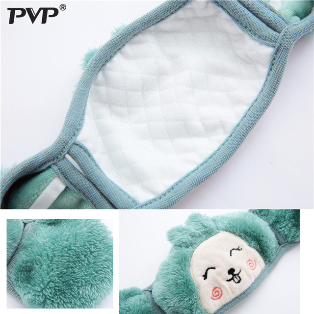 Mother and child Cute rabbit Ear protective kids mouth mask Windproof Mouth-muffle anti dust winter masks Children Anti Haze Flu 2