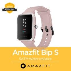 الأصلي الجديد العالمي Amazfit Bip S 5ATM Smartwatch وسائط رياضية متعددة بلوتوث ساعة ذكية للهاتف أندرويد iOS