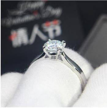 925 sterling silver Ring 1ct Classic Moissanite Lab Diamond Ring Round Cut Wedding ring Anniversary gift VVS1 Moissanite