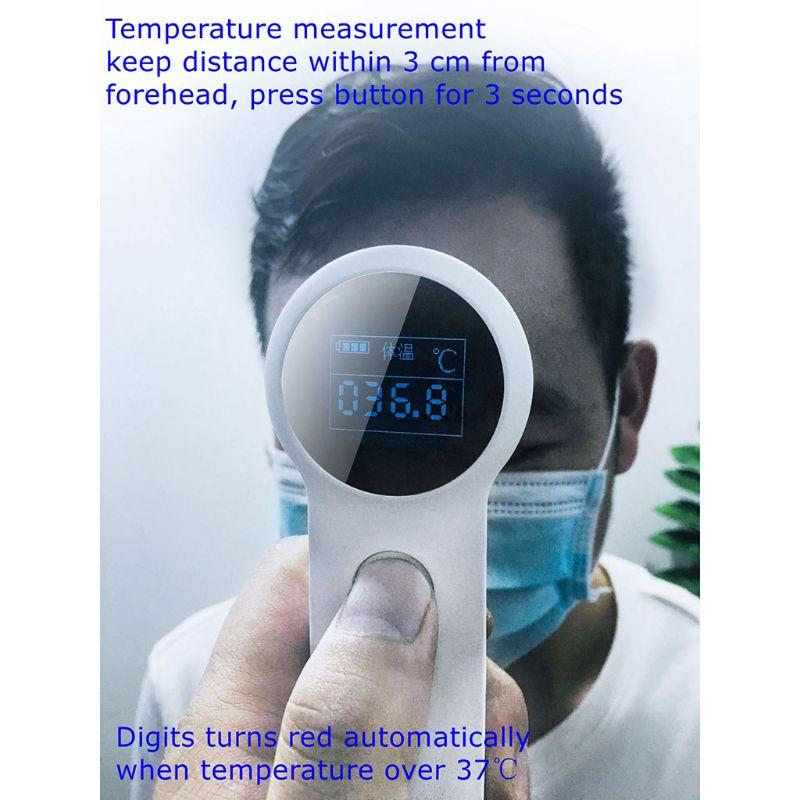 Termometr na podczerwień dzieci dorosłych bezdotykowy cyfrowy czujnik temperatury ciała czoło pomiaru