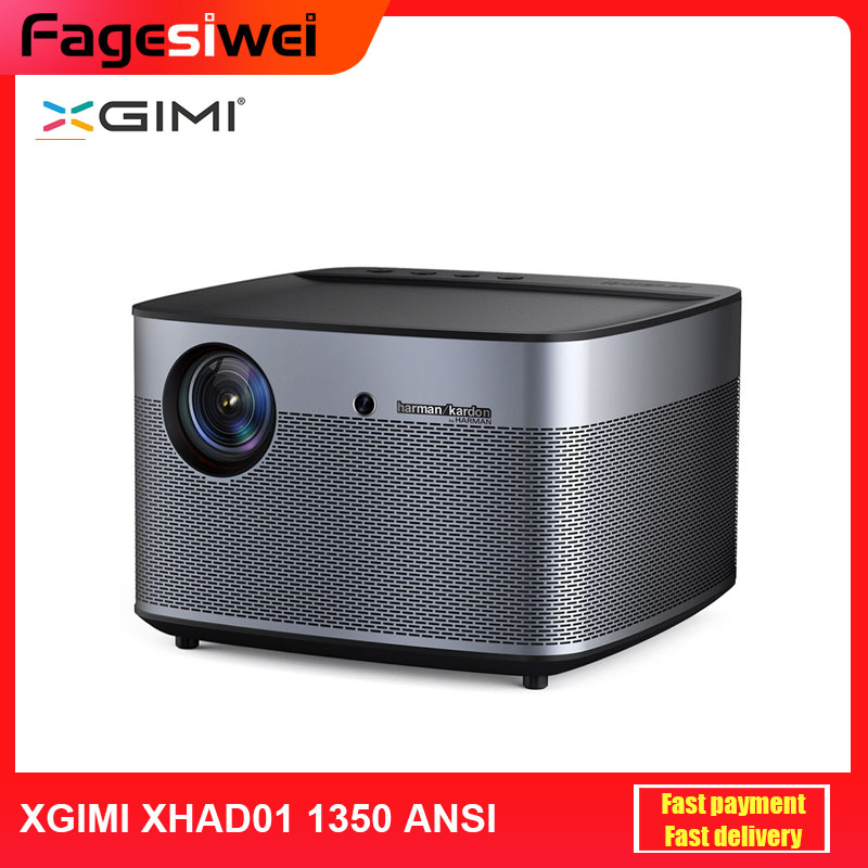 Original XGIMI XHAD01 DLP Projektor 1350ANSI Lumen Full HD 4K 300 zoll Heimkino Mit Harman Kardon Stereo auto Focus BT 4,0