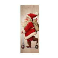 77cm/90cm decoração de natal 3d adesivos de parede boneco de neve papai noel natal árvore padrão impermeável porta adesivos