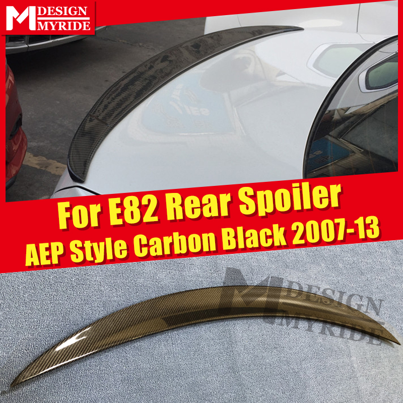 For BMW E82 Carbon Gloss Black Trunk Spoiler Wing AEP Style 1 Series 118i 120i 125i 128i 135is Tail Wing Trunk Spoiler 2007 2013