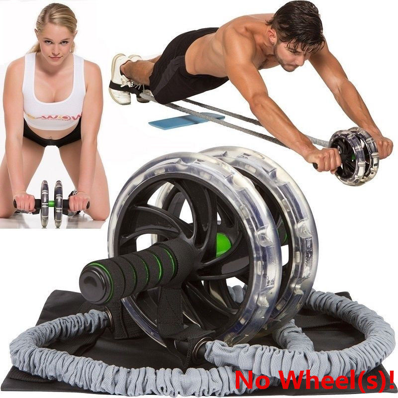 Abdominal Muscle Wheel Auxiliary Pull Rope Exercise Trainer Belly Wheel Roller Elastic Sport Resistance Ropes  Equipment  D40