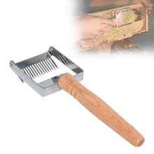 Beekeeping bee Equipment Honeycomb Scraper Wooden Handle Tool Uncapping Fork Beekeeping tools