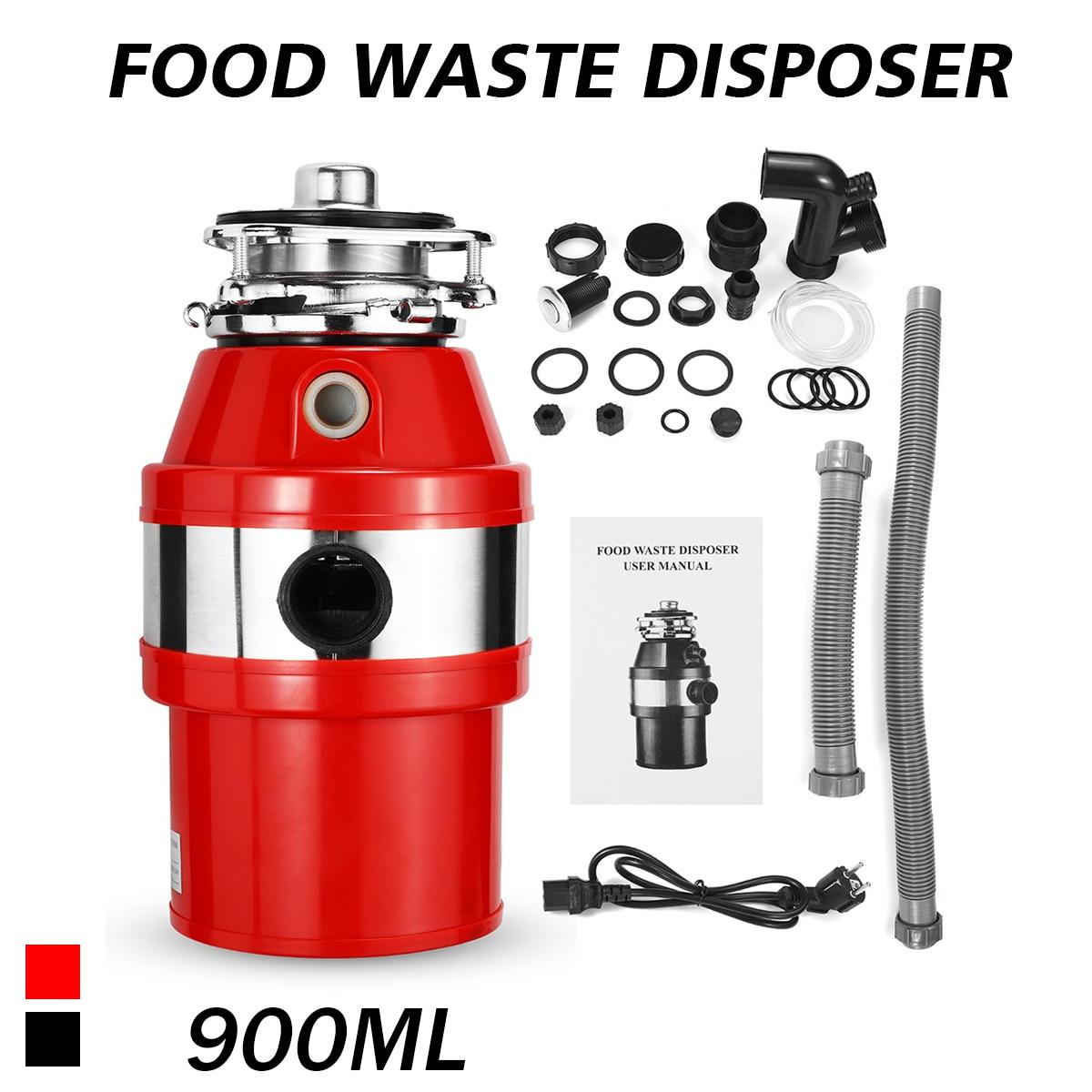 Кухонный измельчитель пищевых отходов, измельчитель пищевых отходов, 2600 об/мин, 900 мл, из нержавеющей стали, воздушный переключатель, 370 Вт, 220...