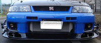For Nissan R33 Skyline GTR Carbon Fiber Black Glossy Finished AS Style Front Bumper Lip Accessories Exterior Body Kit