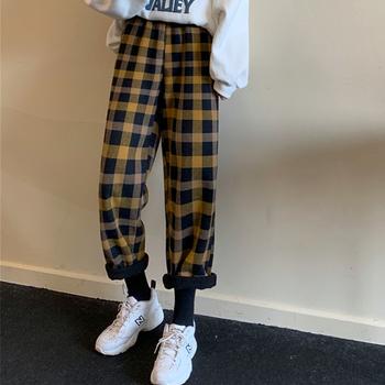 Jesienne zimowe spodnie damskie 2020 Japan Style Harem spodnie damskie luźne spodnie damskie Streetwear spodnie modne spodnie tanie i dobre opinie Poliester Mikrofibra Kostki długości spodnie CN (pochodzenie) Stałe Formalne Proste Mieszkanie REGULAR Osób w wieku 18-35 lat