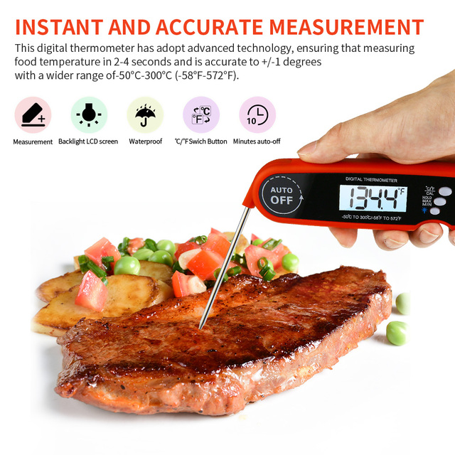 Foldable Digital BBQ Thermometer for Cooking