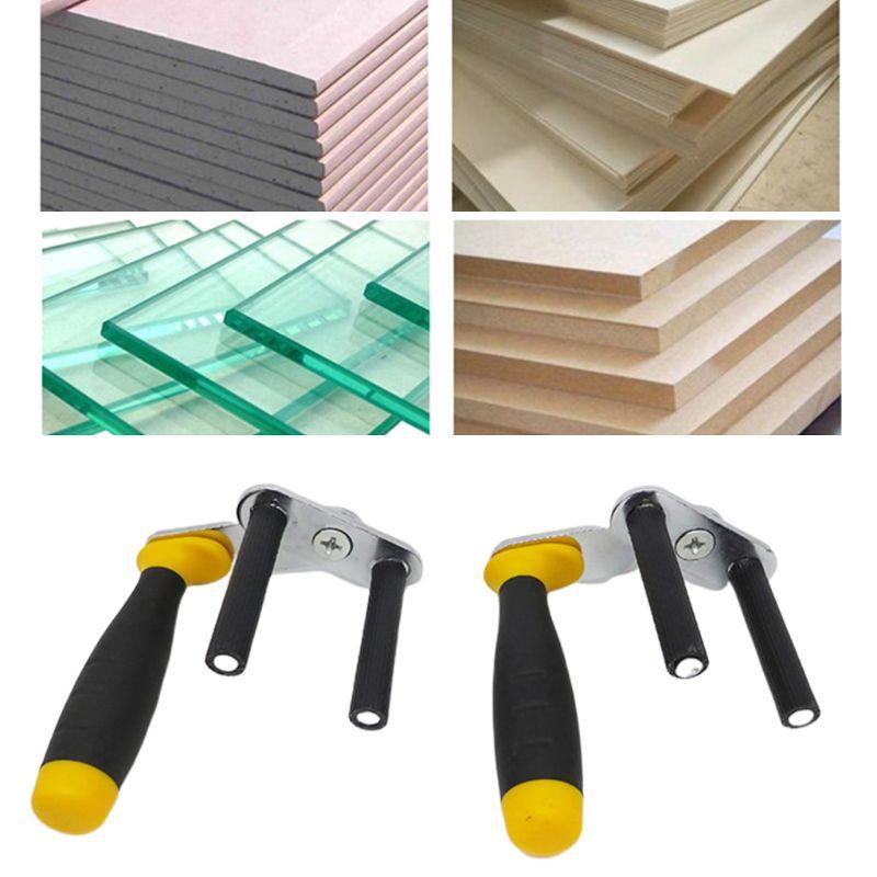 1Pair Adjustable Gypsum Board Lifter Portable Ceramic Tile MultiFunction Carrier M7DA