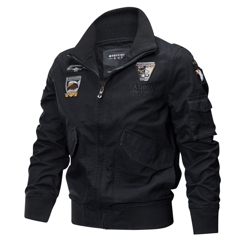 2020 Military Jacket Men Winter Cotton Jacket Army Pilot Jackets Air Force Cargo Coat Military Flight Outwear Autumn Slim Fit