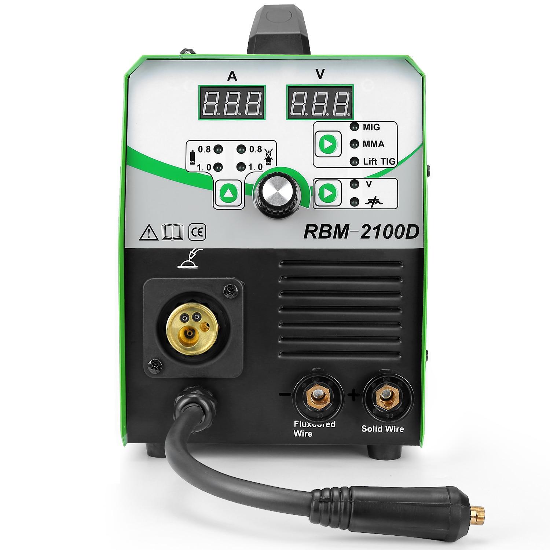 REBOOT Mig Welder MIG/Stick/Lift TIG Welder 4 in 1 Synergy Control 180A Gas Gasless Welding Machine MIG210 Machines
