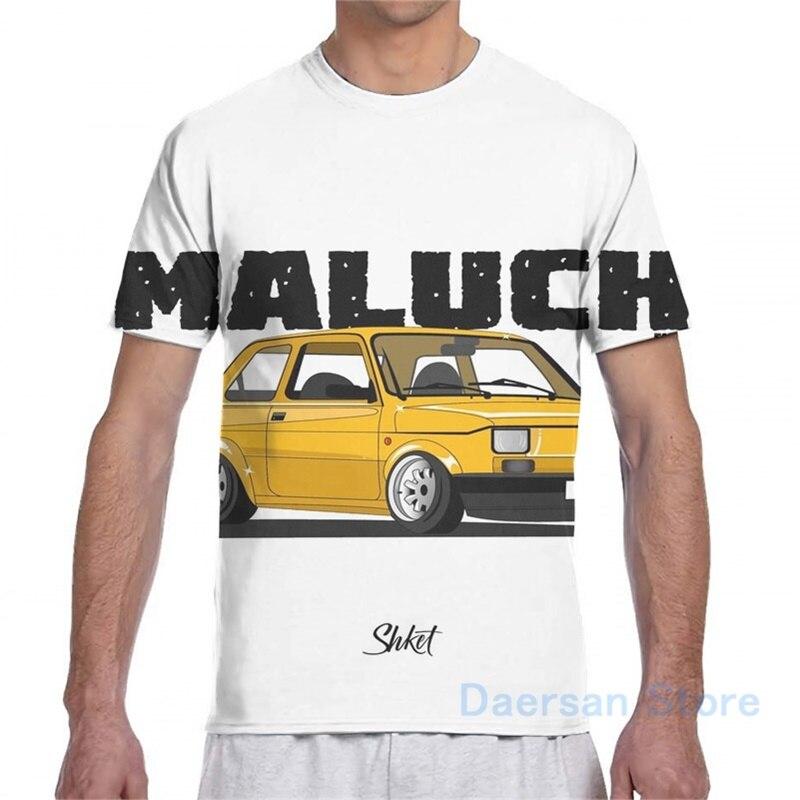 Fiat 126 MALUCH t-shirt męski T-Shirt damski wydruk całościowy fashion girl t shirt boy topy koszulki z krótkim rękawem