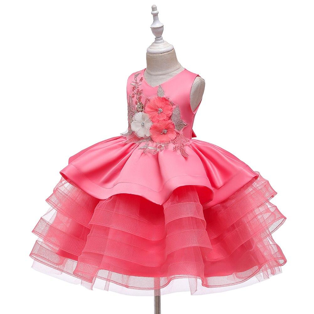 Baby Kids Girls Princess Party Dress Toddler Summer Floral Sleeveless Dresses