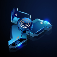 Titanium Metal Hand Spinner EDC Fidget Hand Spinners Autism ADHD Finger Toy Hobbies for Adults Spinners Focus Relieve Stress E
