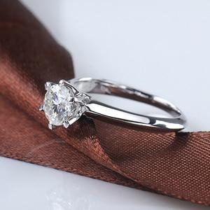 Image 3 - Starsgem Jewel Fashion 18K Vergulde 925 Zilveren 6 Klauwen 0.5/1ct F Moissanite Ring Beste Prijs Moissanite ring Voor Vrouwen