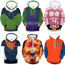 Novas hoodies z bolso com capuz goku hoodies das mulheres dos homens crianças casaco impressão pulôver moletom outono inverno hoodies