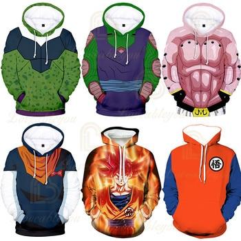 hoodies New Hoodies Z Pocket Hooded Goku Hoodies Men Women Kids Coat Print Pullover Sweatshirt Autumn Winter Hoodies