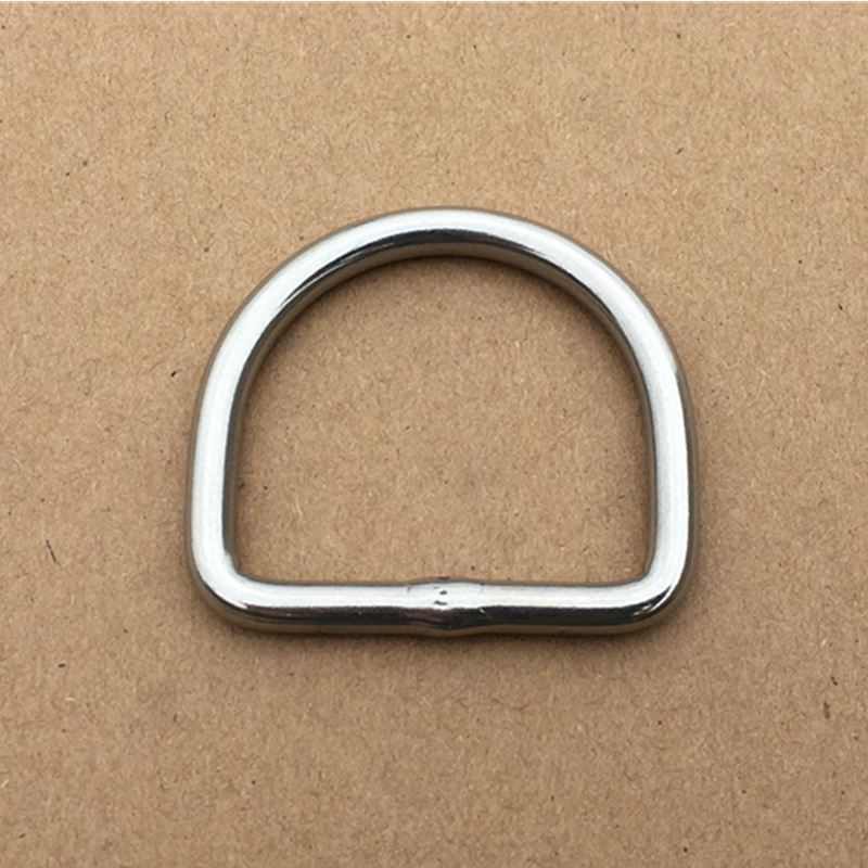 50PCS/Lot  Stainless Steel Welded D-Rings Dog/Pet Collars Buckle Inner Width 26mm Leather Belt Loop W004