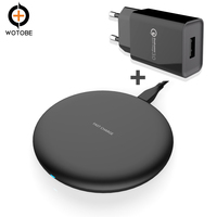 QC3.0 18W fast charging power adapter 10W Qi Wireless Charger for iPhone Visible for Samsung Xiaomi Huawei