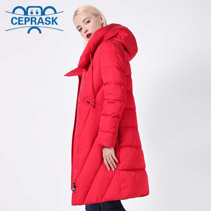 2020 nowy płaszcz zimowy kobiety Plus rozmiar długi wiatroszczelny kołnierz kobiety Parka stylowy gruby kaptur kurtka damska CEPRASK