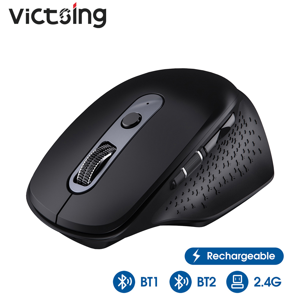 VicTsing PC253 Wireless Bluetooth Mouse Multi-mode Rechargeable Mouse DPI Adjustable USB With Thumb Scroll Wheel For PC Notebook