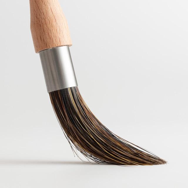 wooden handle cleaning brush bristles Coffee grinder cleaning brush Desktop brush cafe bar household coffee brush 4