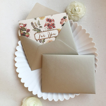 5pcs/set Luxury 120g Imported Crystal Textured Paper Invitation Envelopes for Wedding, Anniversity, Postcard 11.5cmX16cm image