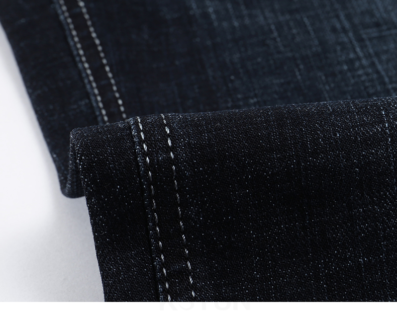 KSTUN Jeans for Men Famous Brand Black Jeans Winter Stretch Business Casual Male Straight Classic Trousers High Quality Big Size 17