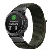 Fenix 6X/Fenix 5X26 Mm Quickfit Horloge Band Lichtgewicht Nylon Loop Soft Sport Ademend Polsbandje Band Voor garmin Fenix 5 Plus