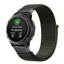 Fenix 6X/Fenix 5X26mm QuickFit saat kayışı hafif naylon döngü yumuşak spor nefes bileklik kayışı Garmin fenix 5 artı