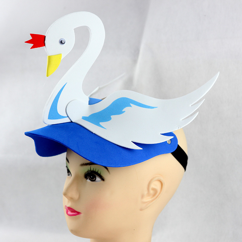 Novelty Cartoon Duck Swan Hats Prop & Caps Men Adult Kids Animal Hats Funny Cap Christmas Gift Children Beanie Unisex Hat