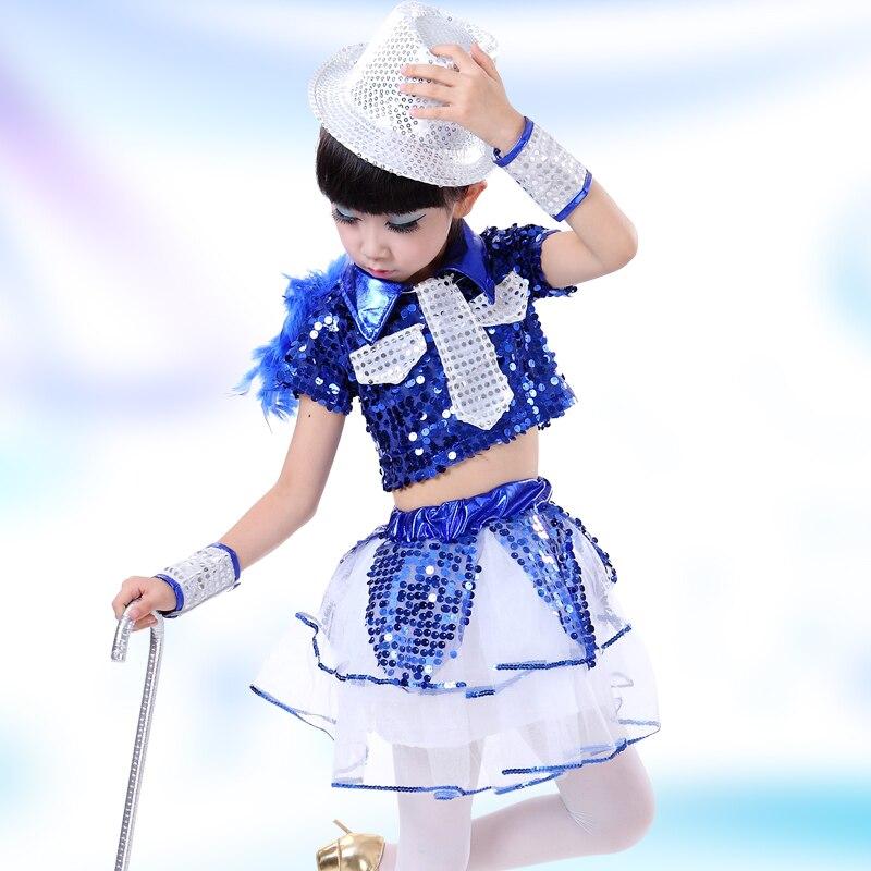 Children's Jazz Dance Costumes Sequins Dance Clothing Children's Private Modern Dance Clothes Street Performance Stage