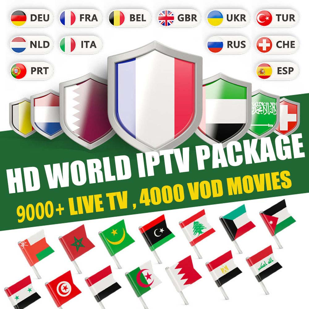 Subscription World Europe M3u IPTV 9000+Channels Spain France Arab Netherlands EX-YU Itpv For IPTV Smart Android TV Box M3U Iptv
