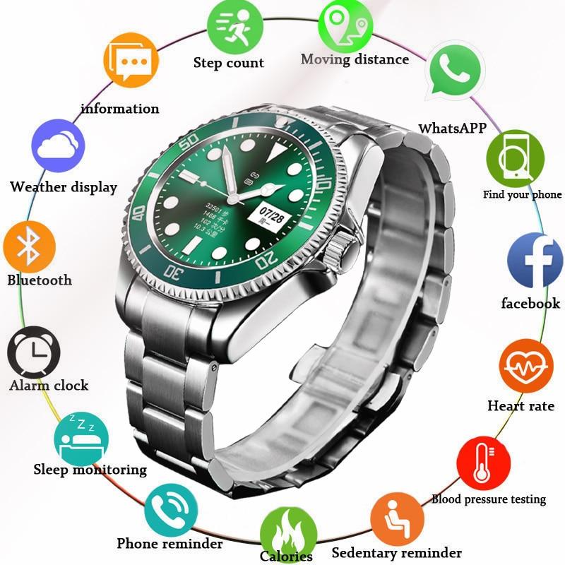 LIGE Смарт-часы для мужчин Smartwatch LED полный сенсорный Экран для Android IOS сердечного ритма крови Давление монитор Водонепроницаемый фитнес-часы