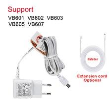 10ft(3m) żeński na męski przedłużacz przewód do bezprzewodowy niania elektroniczna baby monitor VB601 VB602 VB603 VB605 3M adapter kabel przedłużający biały