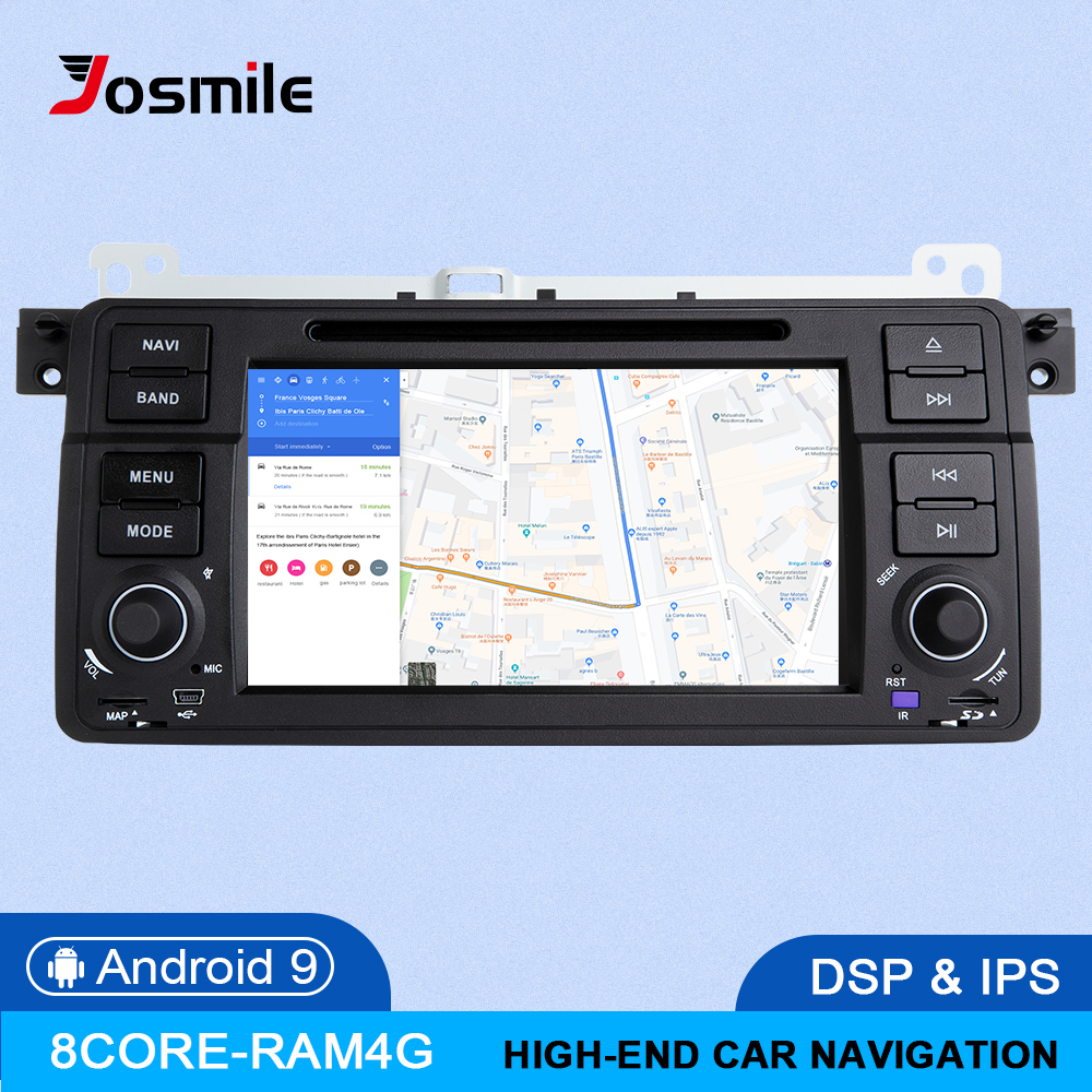Josmile PX5 IPS DSP <font><b>8</b></font> Core 4GB RAM <font><b>1</b></font> <font><b>Din</b></font> <font><b>Android</b></font> 9.0 Car Radio For BMW E46 M3 Rover 75 Coupe 318/320/325/330/335 Navigation Muti image