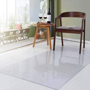 PVC Transparent Waterproof D' Water Rectangular Pad Wooden Floor Protection Mat Non-slip Carpet Plastic Mat Door Mat Area rug