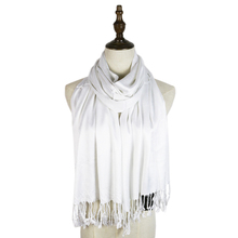Free Shipping 2015 Soft Fabric Long Fashion 100%cotton Fringe 60*170cm Plain Scarf