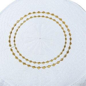 Image 4 - Lo último en sombreros de oración de Musulman Yellow Hui para hombre, sombrero de la semana, sombrero musulmán islámico, gorros de hombre, accesorios de ropa de la nación al por mayor