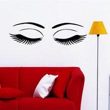 Новые Настенные стикеры в виде глаз для салона красоты настенные