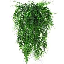 Sztuczna roślina winorośli ściana wisząca symulacja Rattan liście gałęzie zielona roślina bluszcz liść strona główna ślub roślina dekoracyjna-spadek