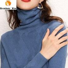 Pink Women 2020 Sweater Long Sleeve Women Wool Knitted Turtleneck Soft Sweater A