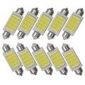 10 шт. авто Интерьер лампа гирлянда из лампочек COB 31 мм 36 мм 39 мм 42 мм светодиодный лампы 12 точек C5W DC12V белый Цвет автомобильный купольный свети...