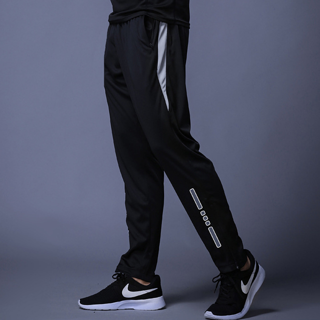 New Jogging Pants Men Breathable Sport Sweatpants Zip Pocket Training Pants Gym Workout Pants Athletic Soccer  Running Trousers 4