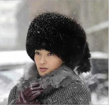 2020 новый стиль осень зима женские винтажные толстые теплые меховые шапки-бомберы из искусственного меха норки Женские винтажные роскошные шапки из меха лисы в стиле Харадзюку V652