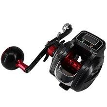 חדש 16   1 כדור Bearing 6.3: 1 שמאל/ימין Baitcasting דיג סליל עם תצוגה דיגיטלית פיתיון ליהוק גלגל